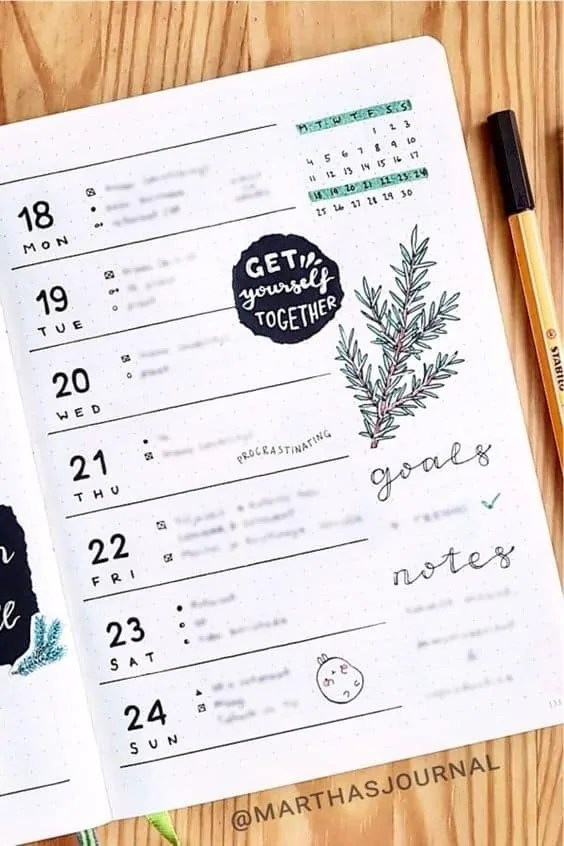 50+ Bullet Journal Weekly Spread Ideas 82