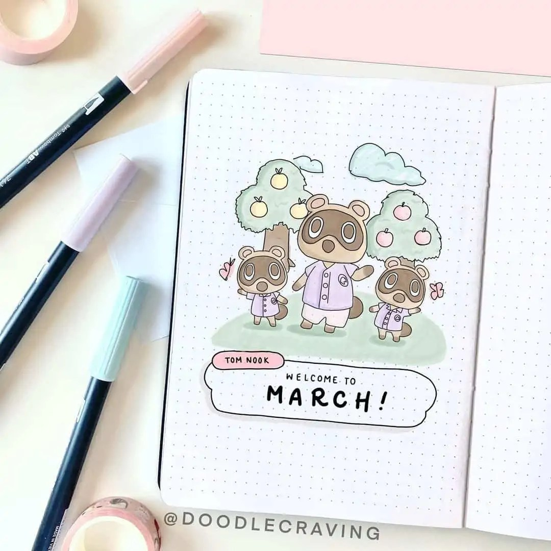 March Bullet Journal Monthly Ideas 46