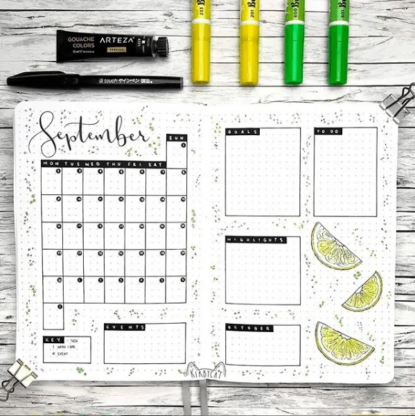 30 Creative Bullet Journal Monthly Spread Ideas 30