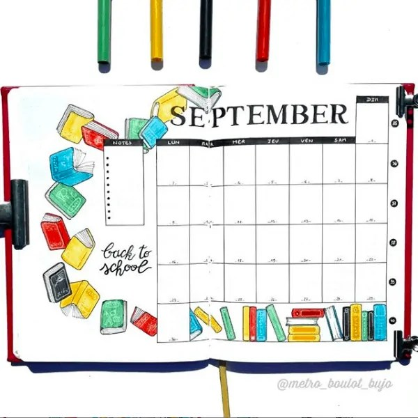 30 Creative Bullet Journal Monthly Spread Ideas 32