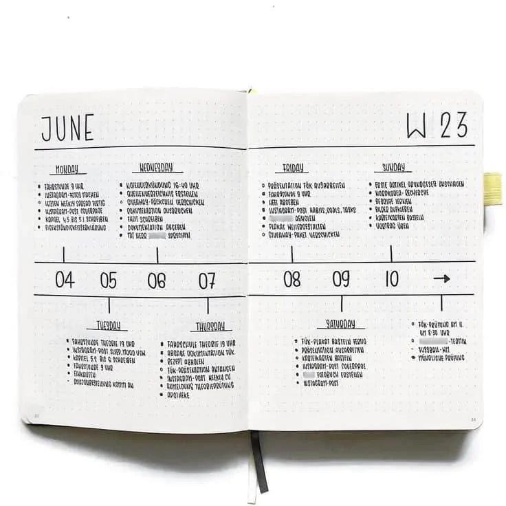 50+ Bullet Journal Weekly Spread Ideas 88