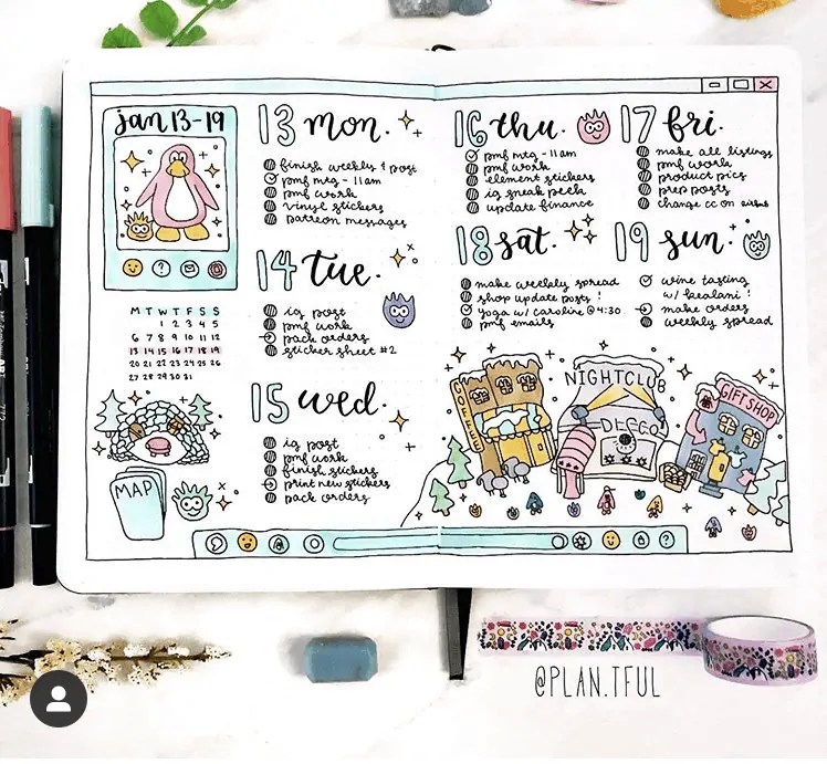 50+ Bullet Journal Weekly Spread Ideas 50