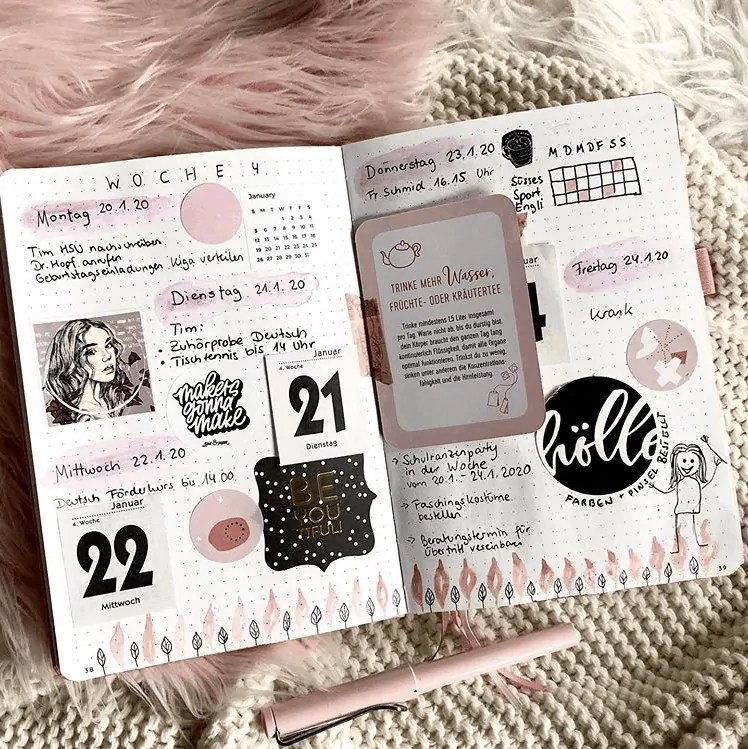 50+ Bullet Journal Weekly Spread Ideas 62