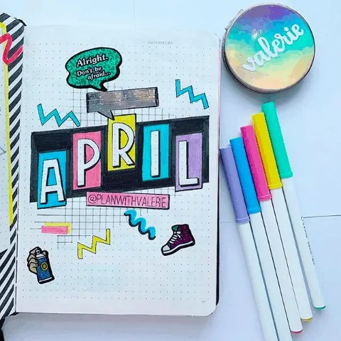 April Bullet Journal: 15 Layout Ideas 22