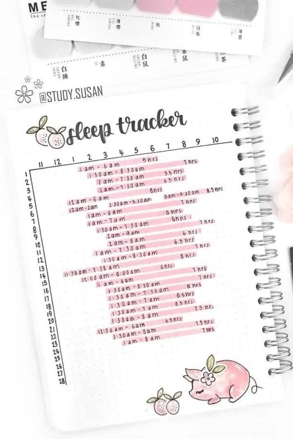 15 Bullet Journal Sleep Tracker Ideas 19