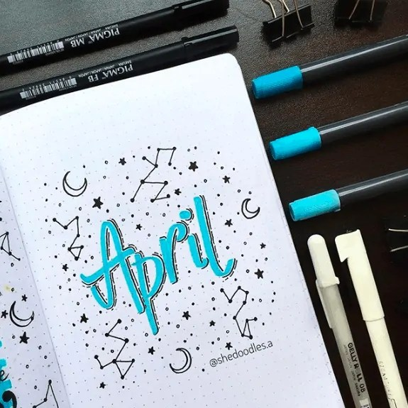 April Bullet Journal: 15 Layout Ideas 37