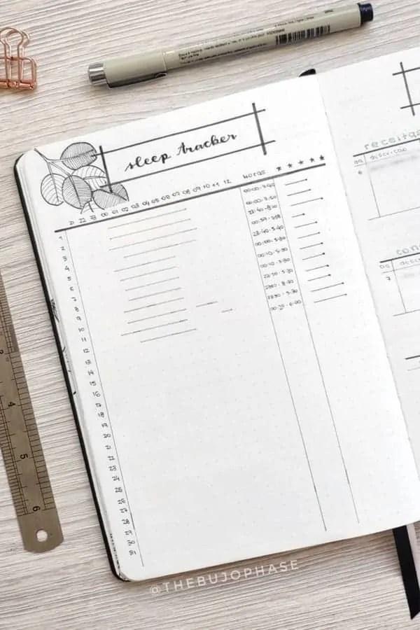 15 Bullet Journal Sleep Tracker Ideas 23