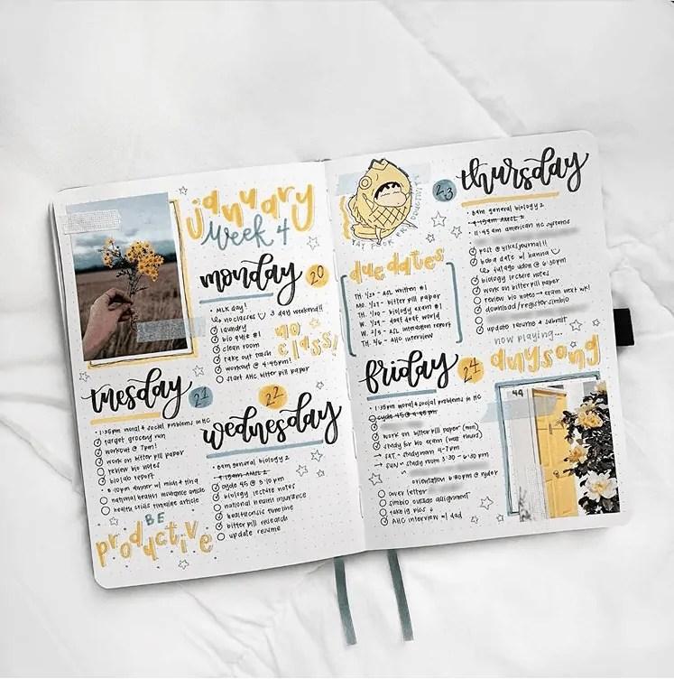 50+ Bullet Journal Weekly Spread Ideas 42
