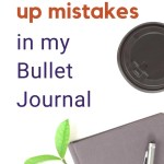 5 Ways to Fix Mistakes in Bullet Journal 3