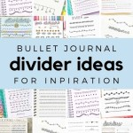85 Bullet Journal Divider Ideas for 2020 13