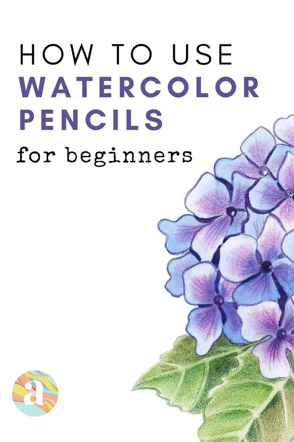 how to use watercolor pencils
