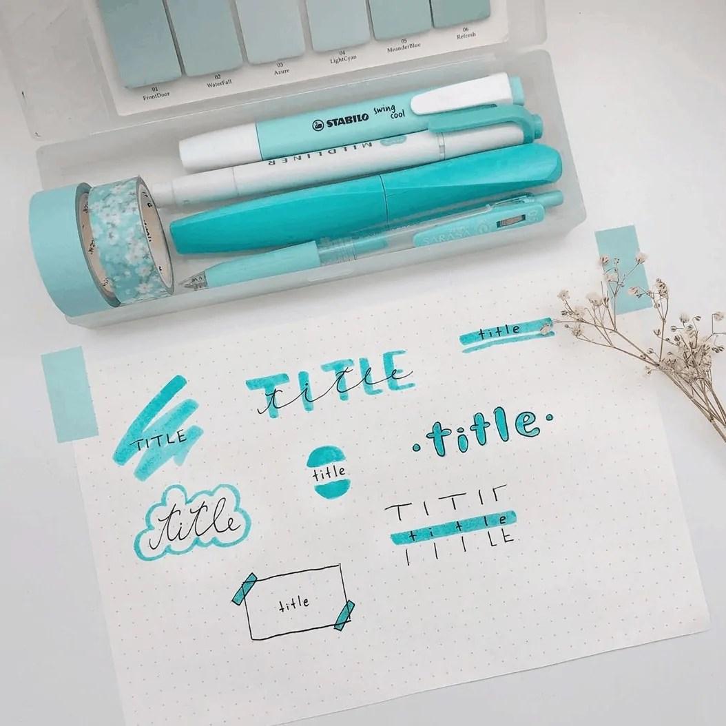 title ideas for bullet journal