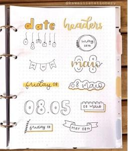 date header ideas