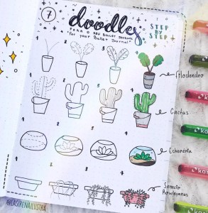how to doodle plants 5