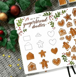 gingerbread cookies doodle