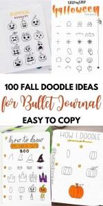 100 FALL DOODLE IDEAS