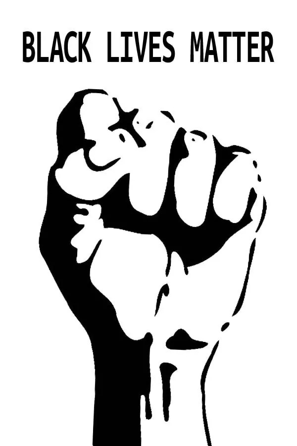 Black Lives Matter Raised Fist