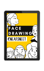 FACE DRAWING CHEATSHEET
