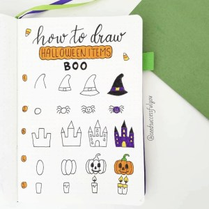 how to draw halloween items