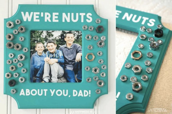 we're nuts about you, dad!