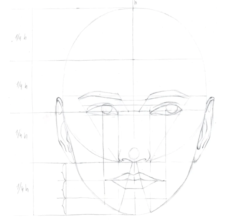 How to draw female face in 8 steps 10