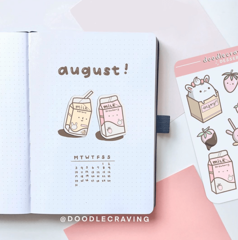 Bullet Journal Monthly cover Ideas