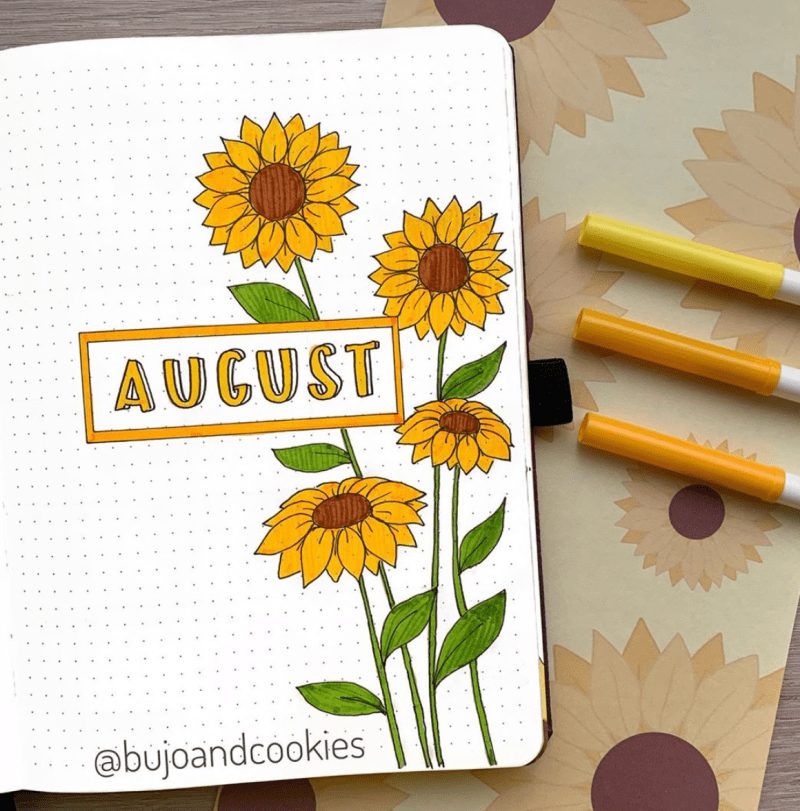 August Bullet Journal Spread Ideas 17
