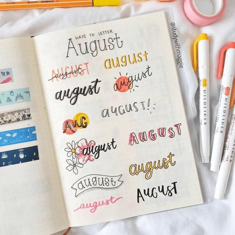 August Bullet Journal Spread Ideas 48