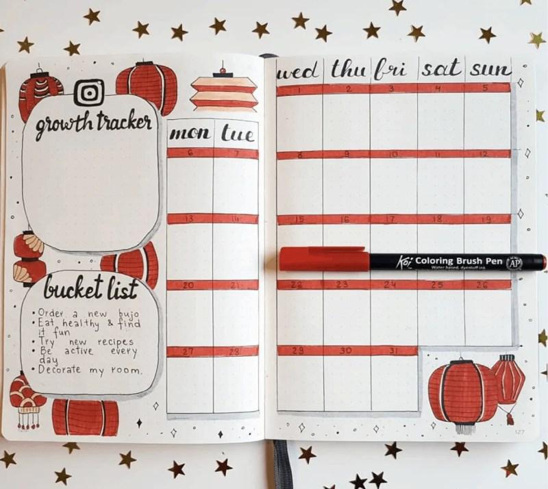 bullet journal ideas January
