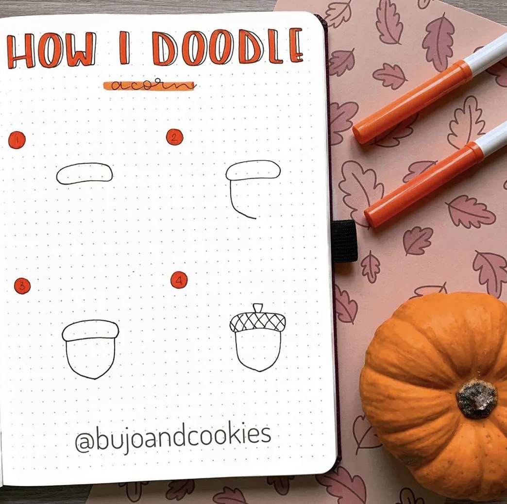 100 Bullet Journal Fall Doodles Halloween Ideas 15