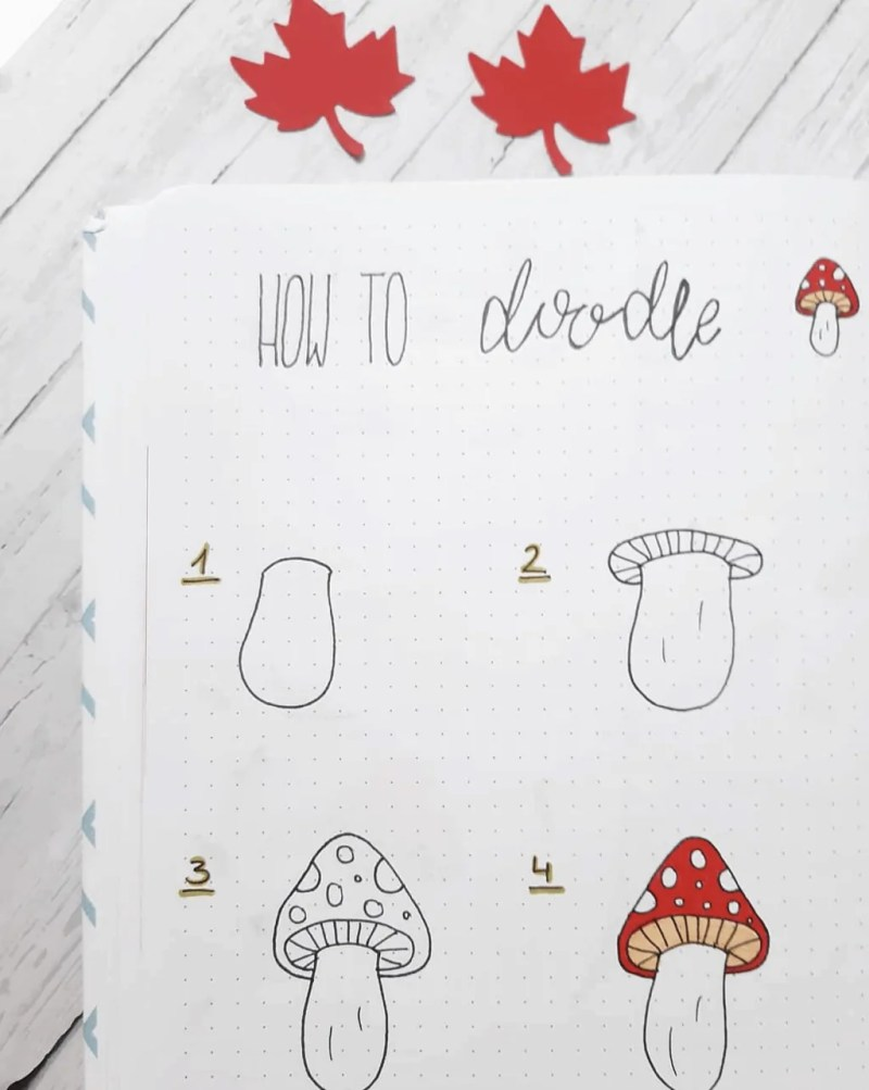 100 Bullet Journal Fall Doodles Halloween Ideas 17