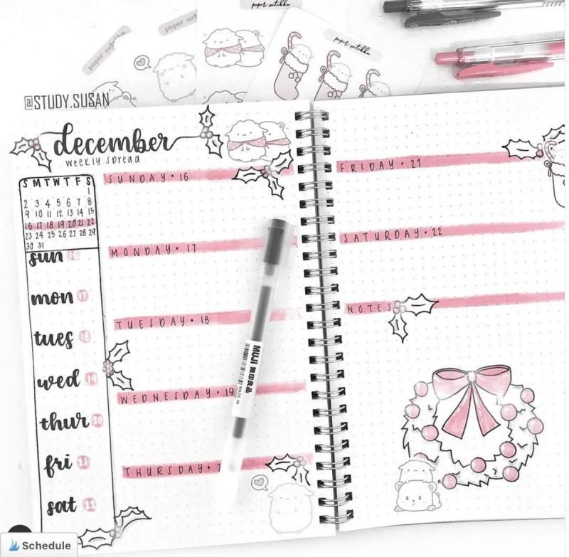 December Bullet Journal Weekly