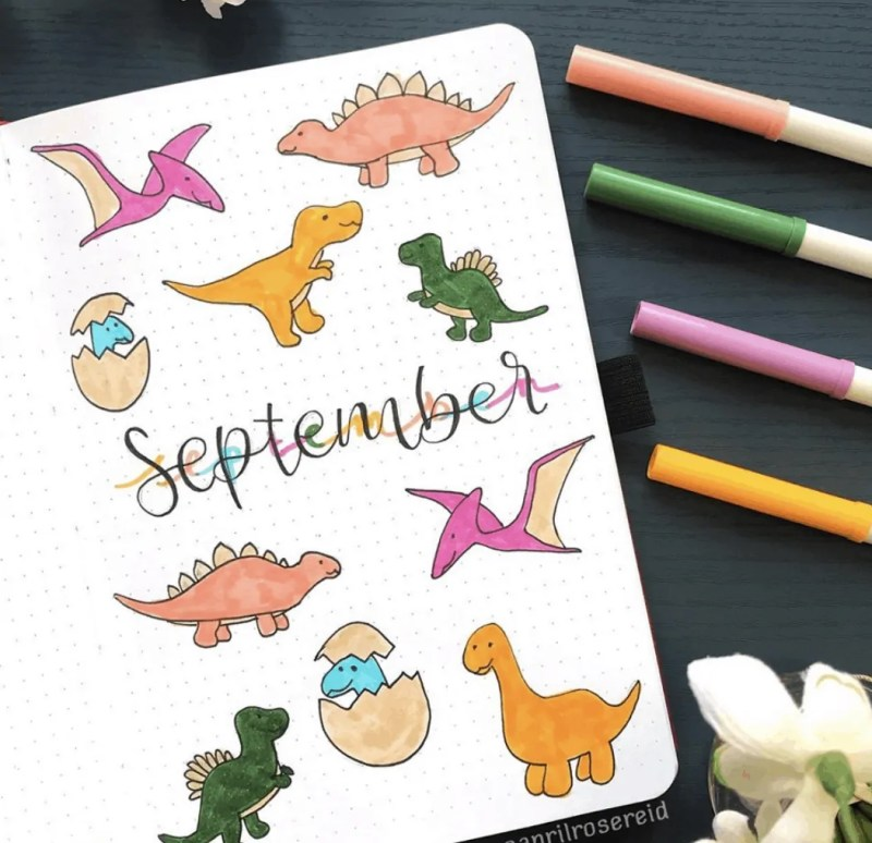 September Bullet Journal Cover Idea
