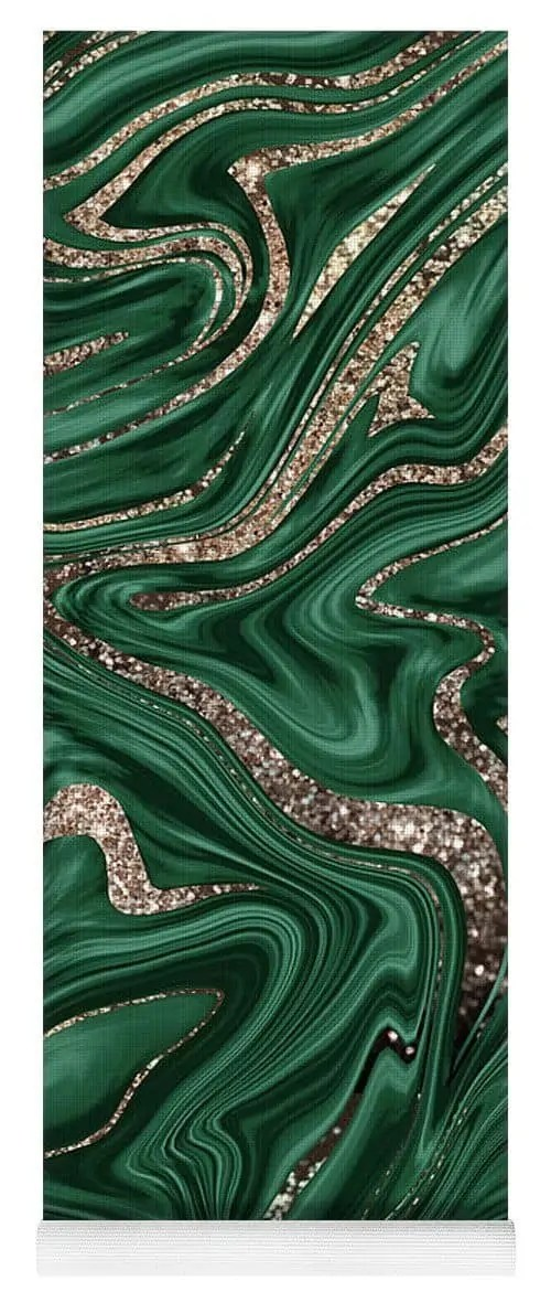 Emerald-Green-Black-Gold-Glitter-Marble-1-decor-art-Yoga-Mat-for-Sale-by-Anitas-and-Bellas-Art 5
