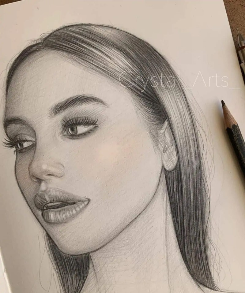 100+ Stunning Realistic Portrait Drawings 3