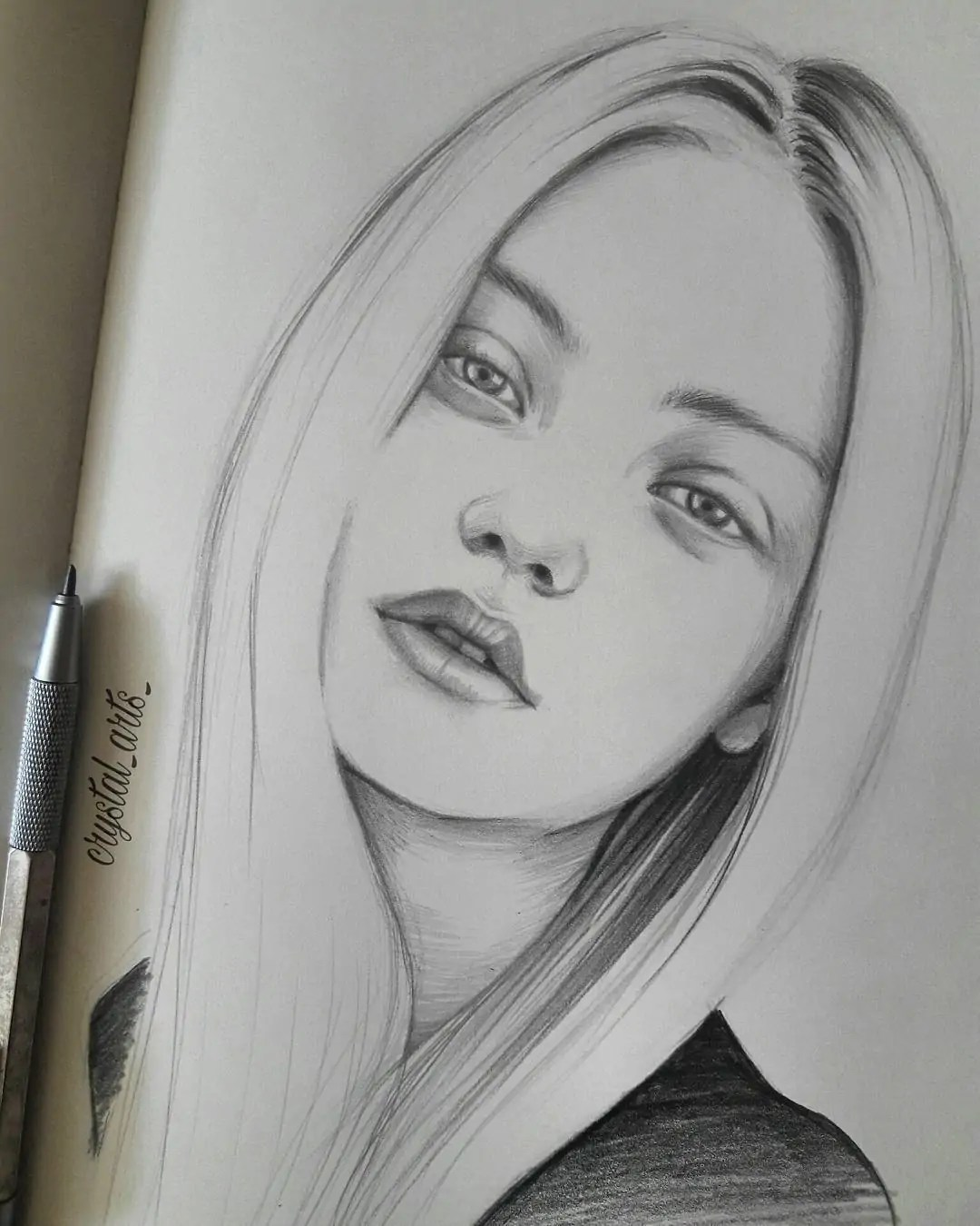 100+ Stunning Realistic Portrait Drawings 361