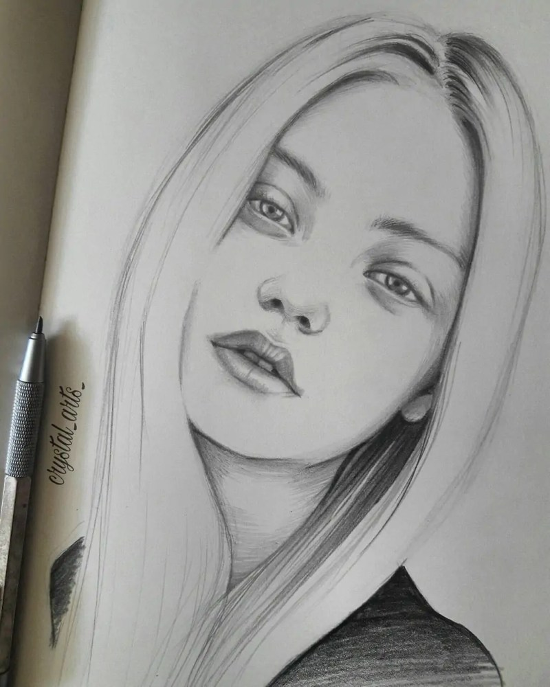 100+ Stunning Realistic Portrait Drawings 171