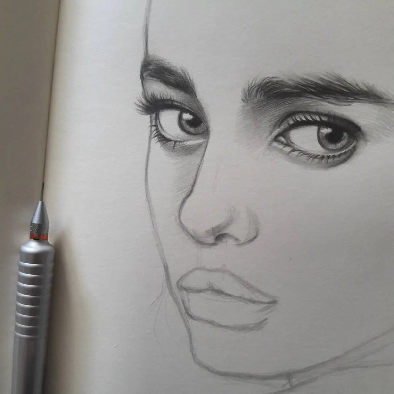 100+ Stunning Realistic Portrait Drawings 167