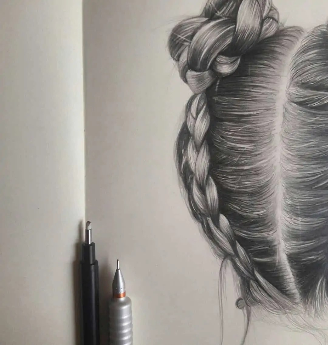 100+ Stunning Realistic Portrait Drawings 343