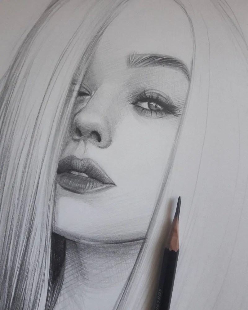 100+ Stunning Realistic Portrait Drawings 143
