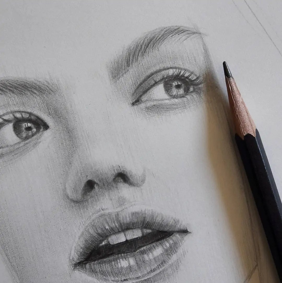 100+ Stunning Realistic Portrait Drawings 321