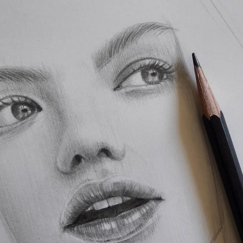 100+ Stunning Realistic Portrait Drawings 131