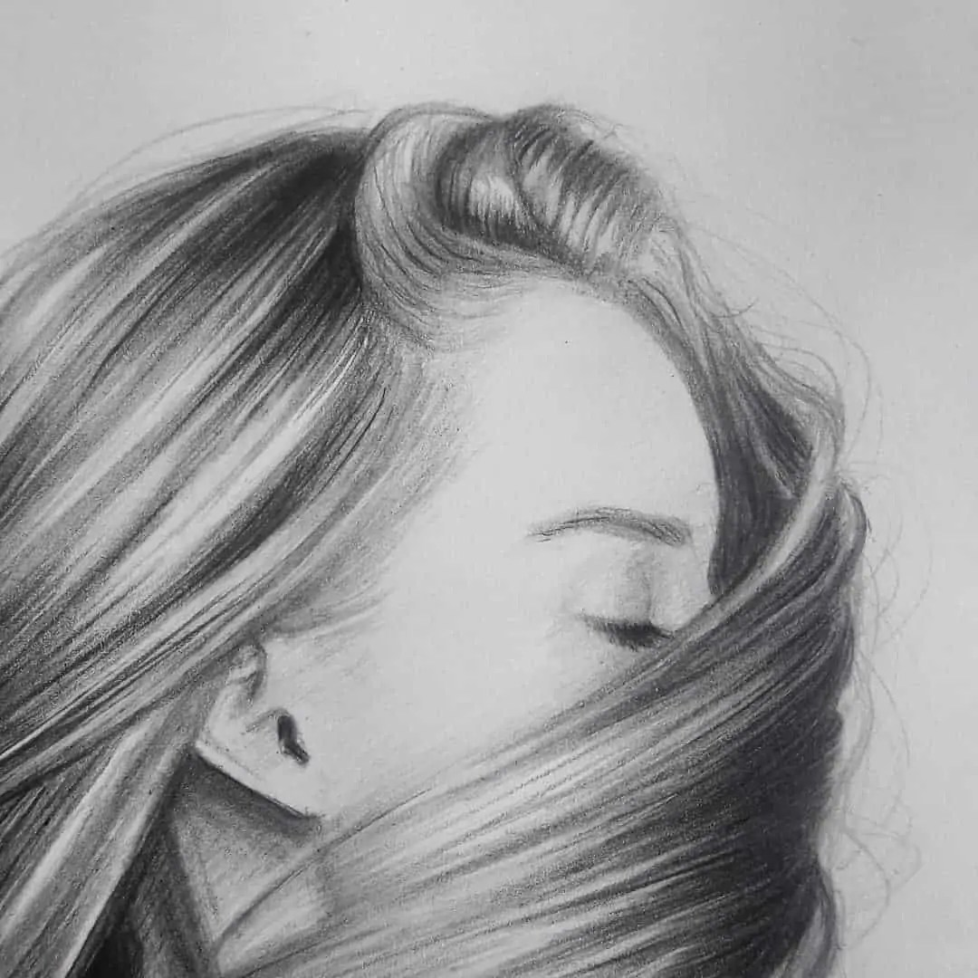 100+ Stunning Realistic Portrait Drawings 273