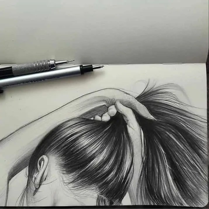 100+ Stunning Realistic Portrait Drawings 51
