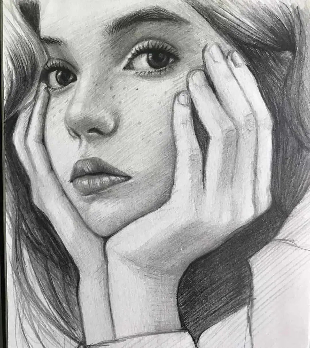 100+ Stunning Realistic Portrait Drawings 235