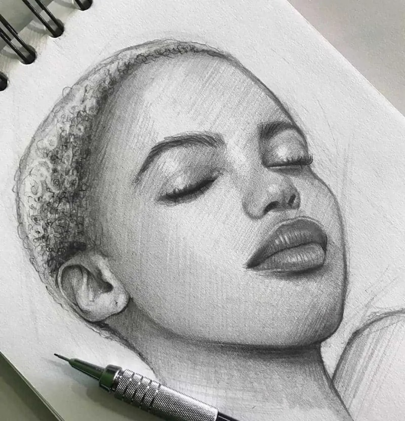 100+ Stunning Realistic Portrait Drawings 41