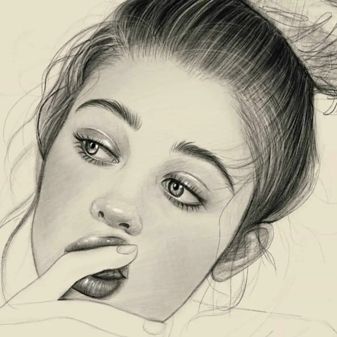 100+ Stunning Realistic Portrait Drawings 221