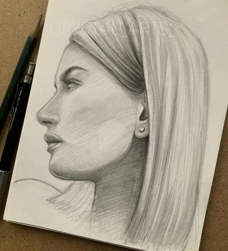 100+ Stunning Realistic Portrait Drawings 27