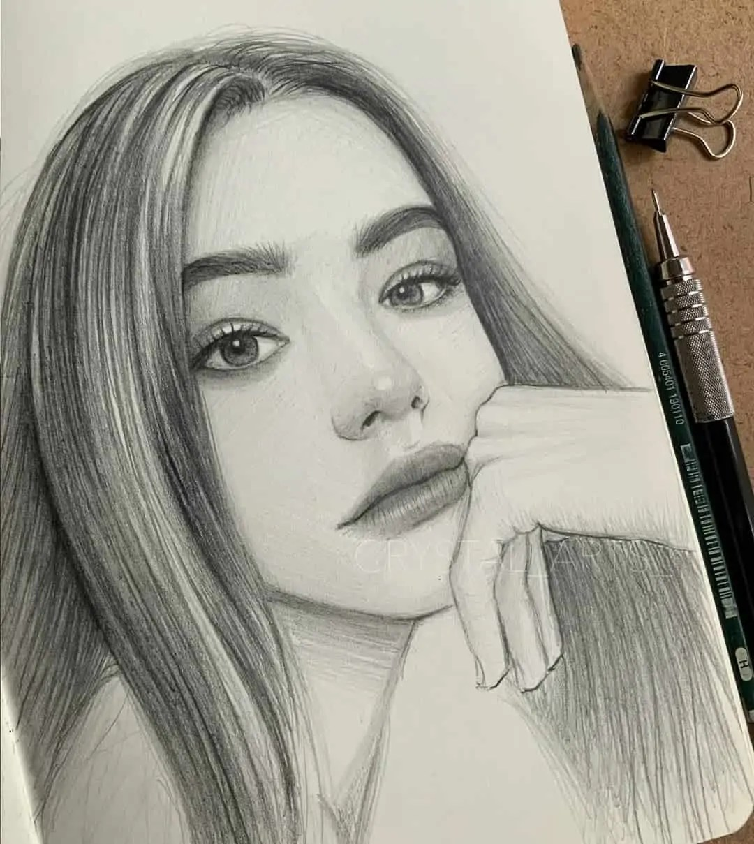 100+ Stunning Realistic Portrait Drawings 215