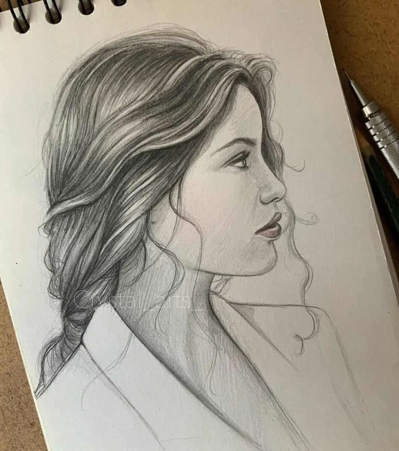 100+ Stunning Realistic Portrait Drawings 23